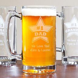 Personalized Giant #1 Beer Mug, 25 oz | Walmart (US)