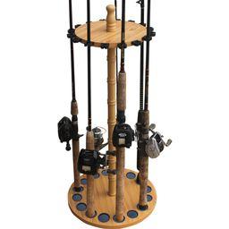 Rush Creek Creations 16 Fishing Rod Round Storage Rack | Walmart (US)