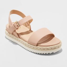 Women's Rianne Espadrille Ankle Strap Sandals - A New Day Blush 8 | Target