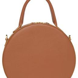 Mansur Gavriel Calfskin Leather Circle Crossbody Bag - Brown | Nordstrom