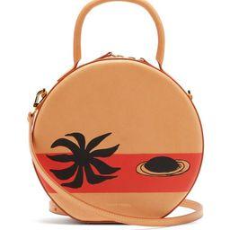Mansur Gavriel - X Calder Circle Printed Leather Cross-body Bag - Womens - Beige Multi | Matchesfashion (Global)