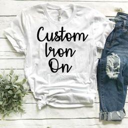 Custom iron on, vinyl decal, Custom Disney, custom heat transfer, Custom family shirts, Custom de... | Etsy (US)