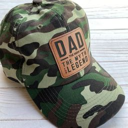 Camo Hat - Father's Day Gift - Trucker Cap - Patch - Laser Engraved Man Myth Legend -  Baseball H... | Etsy (US)