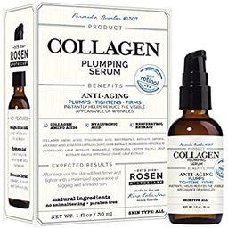 Collagen Plumping Serum with Retinol 1oz / 30ml, by Rosen Apothecary | Amazon (US)