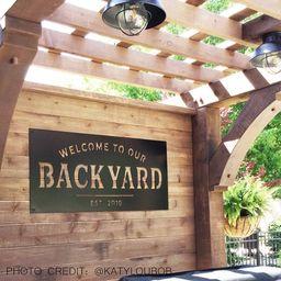 Welcome to our Backyard - Backyard - Memories - Custom Metal Sign - Beginning - Established - met...   Etsy (US)