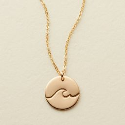 """The Wave Disc Necklace - 1/2"""" 