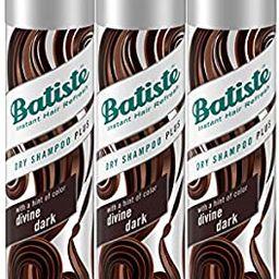Batiste Dry Shampoo, Divine Dark, Brown, 3 Count | Amazon (US)