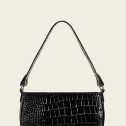 Croc Embossed Baguette Bag   SHEIN