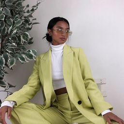 Topshop Petite oversized blazer in lime green | ASOS (Global)