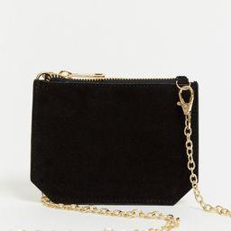 Urbancode small leather cross body purse bag in black | ASOS (Global)