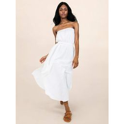 Scoop Women's Strapless Elastic Waist Self Belt Midi Dress   Walmart (US)