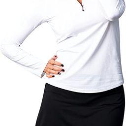 Women's SolTek Ice UV 50 Long Sleeve Zip Neck Mock Top | Amazon (US)