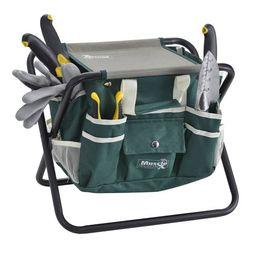 8 Piece Garden Tool Set Includes Folding Stool and Detachable Tool Bag | Walmart (US)