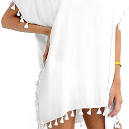 Taydey Women's Stylish Chiffon Tassel Beachwear Bikini Swimsuit Cover up | Amazon (US)