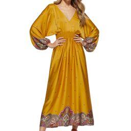 Scoop Women's V-Neck Cinched Waist Dress   Walmart (US)