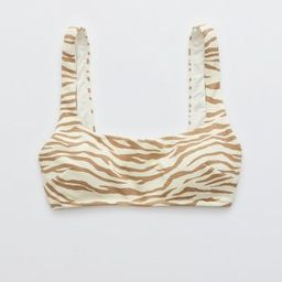 Aerie Pique Animal Print Wide Strap Scoop Bikini Top | American Eagle Outfitters (US & CA)