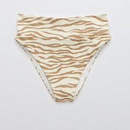 Aerie Animal Print Pique High Cut Cheeky Bikini Bottom | American Eagle Outfitters (US & CA)
