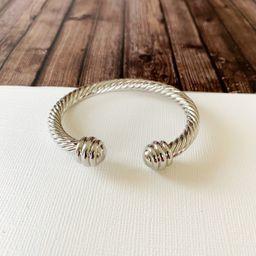 Cable Bracelet Collection :: Jane Silver Cuff   Baubles & Bits