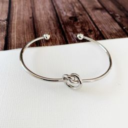 Cable Bracelet Collection :: Molly Love Knot Silver   Baubles & Bits