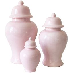 Cherry Blossom Pink Ginger Jars | Lo Home by Lauren Haskell Designs