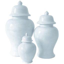 Hydrangea Light Blue Ginger Jars | Lo Home by Lauren Haskell Designs