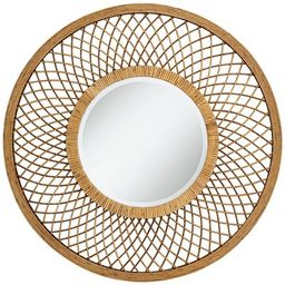 "Noble Park Baja Del Sur Dark Rattan 36"" Round Wall Mirror | Target"