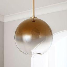 Sculptural Glass Globe Pendant - Metallic Ombre | West Elm (US)