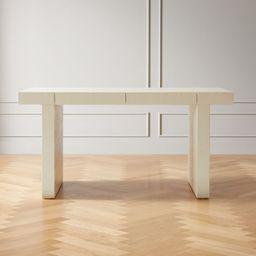 Bianca Lacquered Linen Parsons Desk | CB2 | CB2