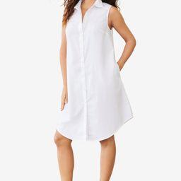 Sleeveless Kate Shirtdress with Pockets | Roamans