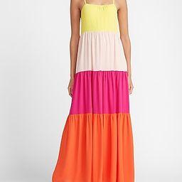 Color Block Maxi Dress   Express