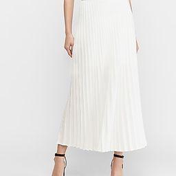 High Waisted Pleated Maxi Skirt   Express