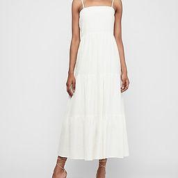 Textured Tiered Tie Shoulder Maxi Dress   Express
