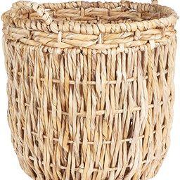 Household Essentials Brown Tall Round Wicker Storage Basket | Amazon (US)