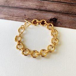 Boutique Bracelet Collection :: Azalea Gold Link Toggle Bracelet   Baubles & Bits
