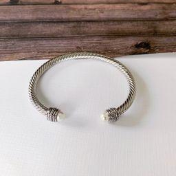 Cable Bracelet Collection :: Autumn White Pearl | Baubles & Bits