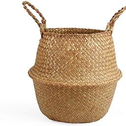 BlueMake Woven Seagrass Belly Basket for Storage Plant Pot Basket and Laundry, Picnic and Grocery...   Amazon (US)