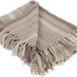 DII Farmhouse Cotton Stripe Blanket Throw with Fringe For Chair, Couch, Picnic, Camping, Beach, &...   Amazon (US)