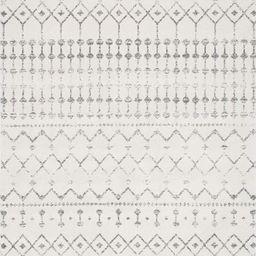 nuLOOM Moroccan Blythe Area Rug, 8' x 10', Grey/Off-white   Amazon (US)
