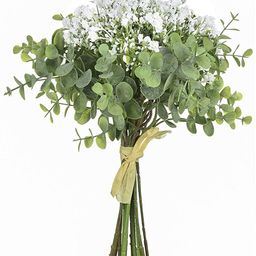 Anna Homey Decor Fake Flowers Pack of 1 Flower Bouquets,Total of 6 Baby Breath Flowers and 6 Silv...   Amazon (US)