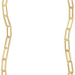 Reoxvo 18K Real Gold Plated Link Chain Necklace Bracelets for Women Oval Rectangle Chain Link Cho...   Amazon (US)