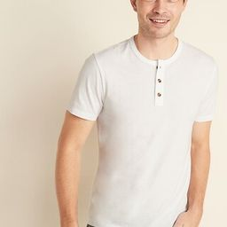 Soft-Washed Jersey Henley Tee for Men | Old Navy (US)