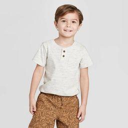 Toddler Boys' Henley T-Shirt - Cat & Jack™ Cream | Target