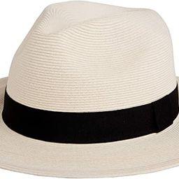 Pineapple&Star Sun Straw Fedora Beach Hat Fine Braid UPF50+ for Both Women Men | Amazon (US)