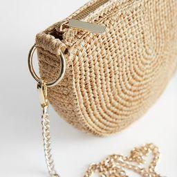 Half Moon Straw Crossbody Bag | & Other Stories
