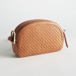 Braided Leather Half Moon Crossbody Bag   & Other Stories