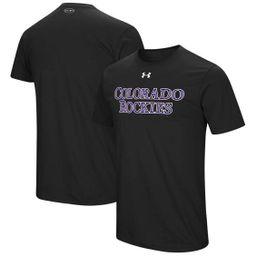 Men's Under Armour Black Colorado Rockies Wordmark Core T-Shirt | Kohl's