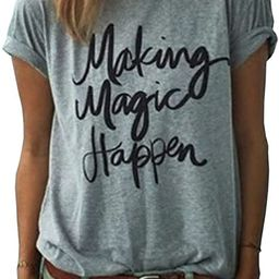 Women's Summer Street Printed Tops Funny Juniors T Shirt Short Sleeve Tees | Amazon (US)
