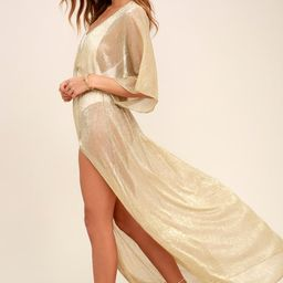 Midas Sheer Gold Maxi Cover-Up | Lulus (US)