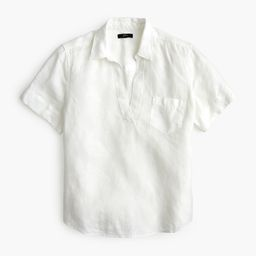 Short-sleeve popover in linen | J.Crew US