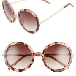 50mm Gradient Round Sunglasses   Nordstrom